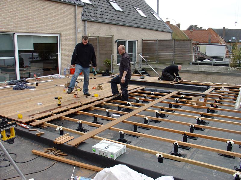 Hcg ltd realisaties houten terrassen houten terras van begin tot einde - Bedek een houten terras ...