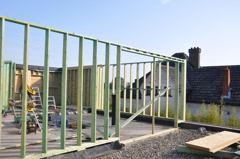 Hcg ltd realisaties houtskeletbouw houten bijhuizen for Houtskelet schuur