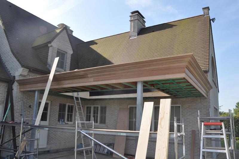 Hcg ltd realisaties houtskeletbouw houten bijhuizen overdekt terras 2 for Overdekt terras